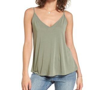 BP. Green Double V Swing Camisole